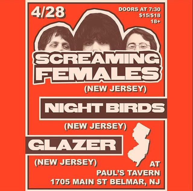 Screaming Females-Night Birds-Glazer @ Belmar NJ 4-28-17