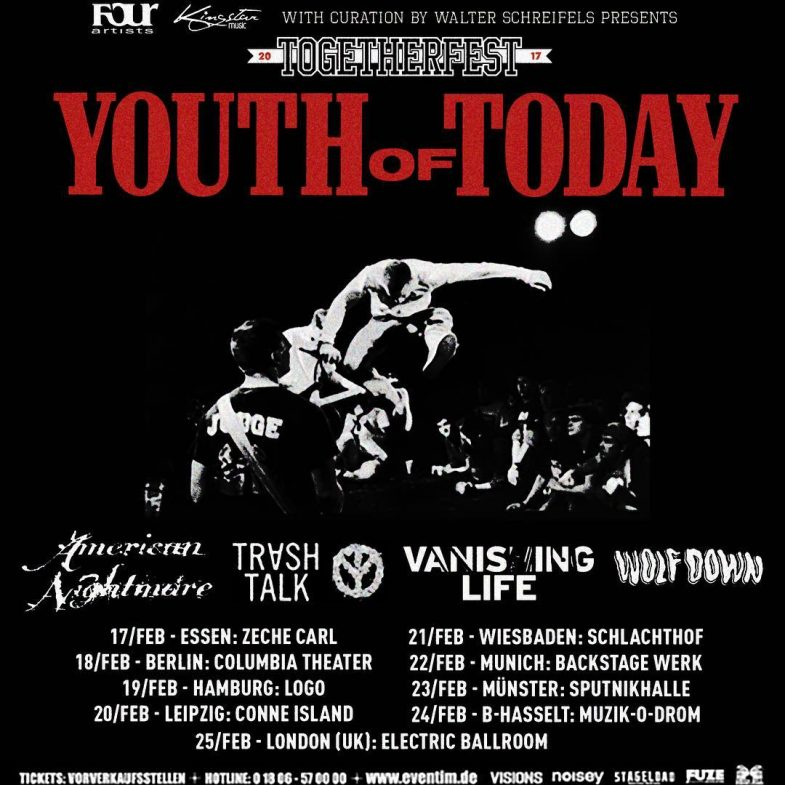 Youth Of Today-American Nightmare-Trash Talk-Vanishing Life-Wolf Down Tour 2017