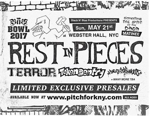 Rest In Pieces-Terror-Token Entry-Line Of Scrimmage @ New York City NY 5-21-17