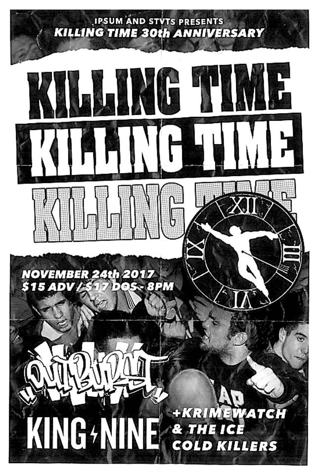 Killing Time-Outburst-King Nine-Krimewatch-Ice Cold Killers @ New York City NY 11-24-17