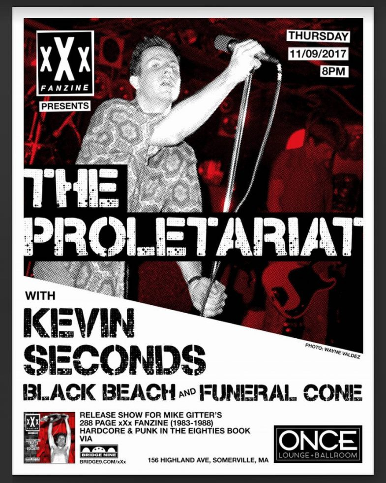 The Proletariat-Kevin Seconds-Black Beach-Funeral Cone @ Somerville MA 11-9-17
