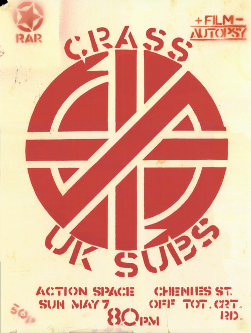 Crass-UK Subs @ London England 5-7-78