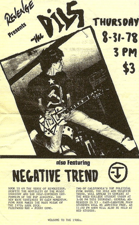 The Dils-Negative Trend @ Portland OR 8-31-78