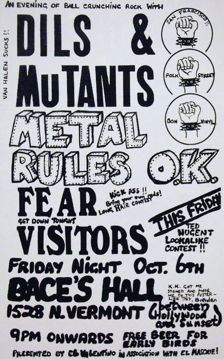 The Dils-Mutants-Fear-Visitors @ Hollywood CA 10-6-78