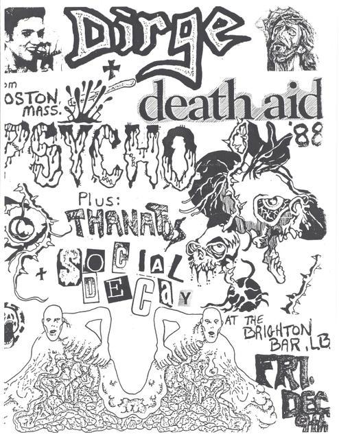 Dirge-Psycho-Thanatos-Social Decay @ Long Branch NJ 12-9-88