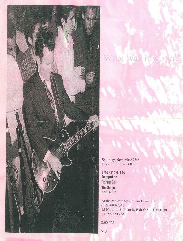 Unbroken-Outspoken-The Crimson Curse-The Setup-Palpatine @ San Bernadino CA 11-28-98