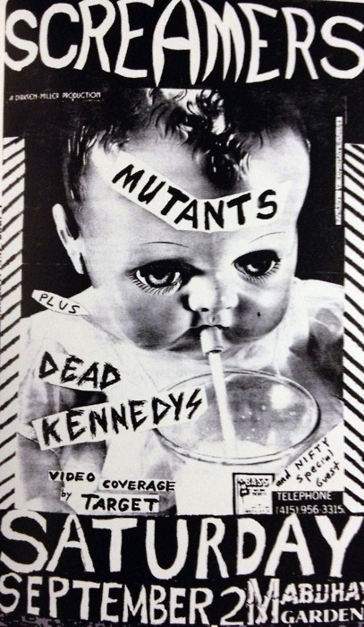 Screamers-Mutants-Dead Kennedys @ San Francisco CA 9-2-78
