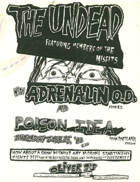 The Undead-Adrenalin OD-Poison Idea @ Allentown PA 6-25-88