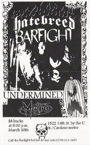 Hatebreed-Bar Fight-Undermined @ Richmond VA 3-30-98