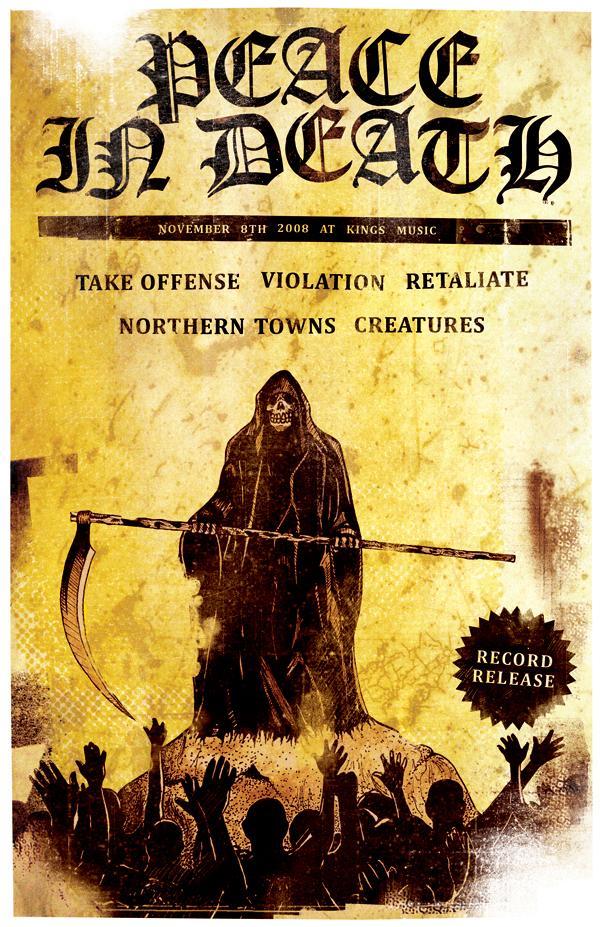 Take Offense-Violation-Retaliate-Northern Towns-Creatures @ Philadelphia PA 11-8-08
