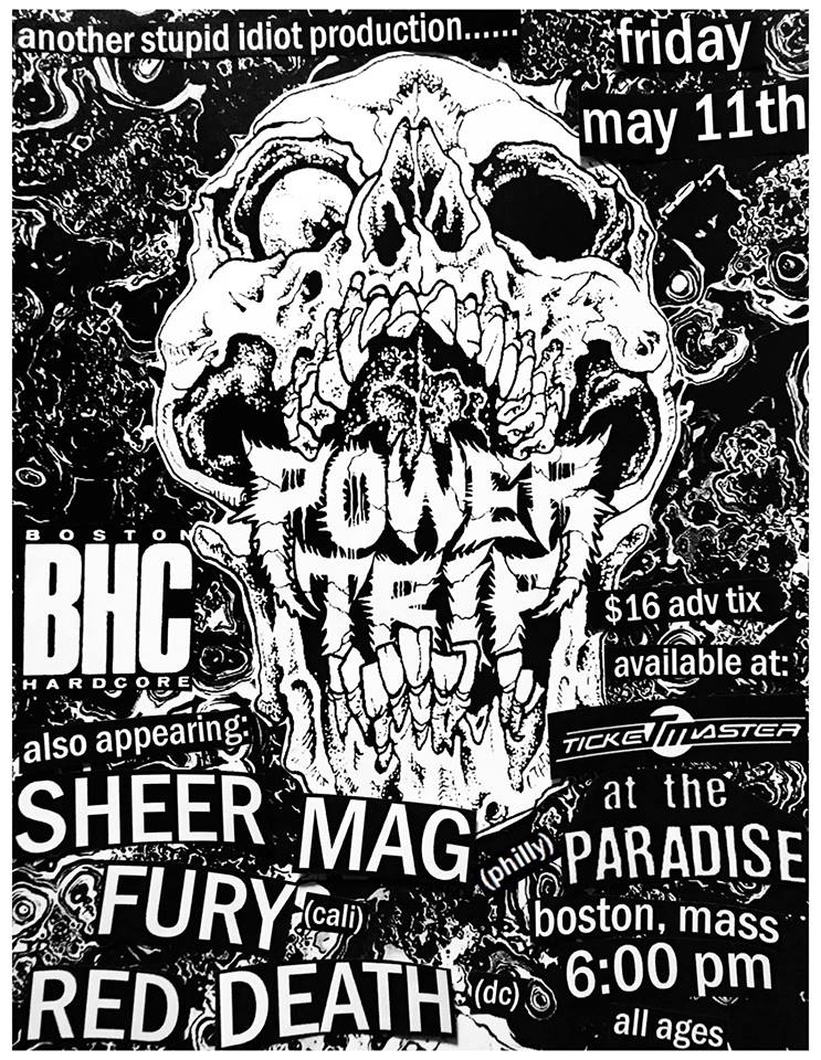 Power Trip-Sheer Mag-Fury-Red Death @ Boston MA 5-11-18