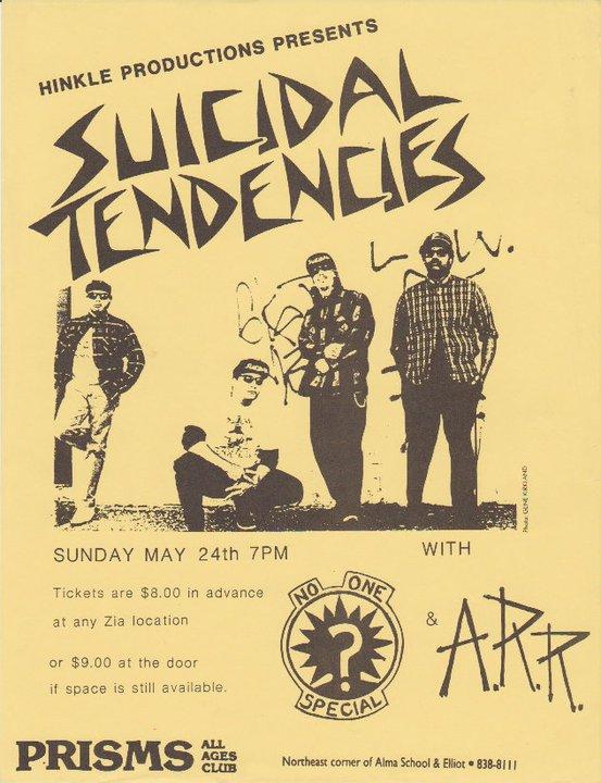 Suicidal Tendencies-No One Special-ARR @ Phoenix AZ 5-24-87