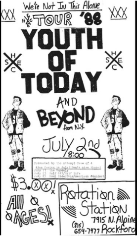 Youth Of Today-Beyond @ Rockford IL 7-2-88