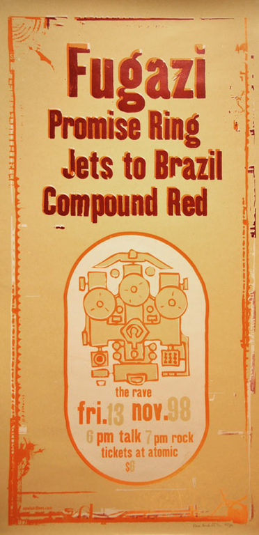 Fugazi-The Promise Ring-Jets To Brazil-Compound Red @ Milwaukee WI 11-13-98