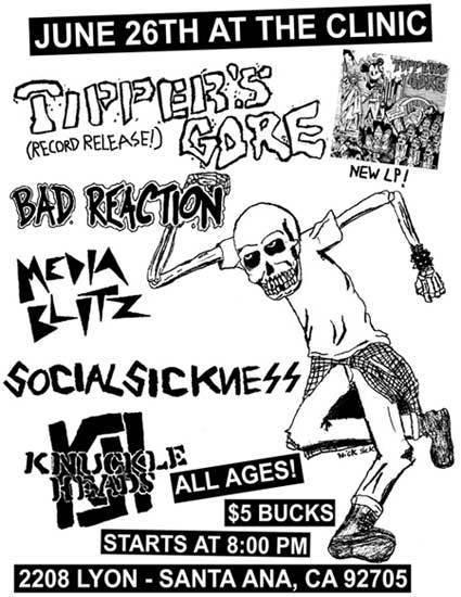 Tipper's Gore-Bad Reaction-Media Blitz-Social Sickness-Knuckleheads @ Santa Ana CA 6-26-08