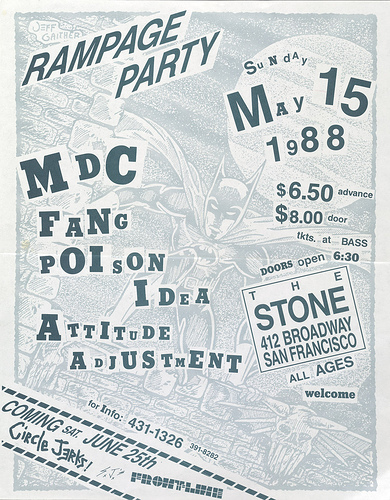 MDC-Fang-Poison Idea-Attitude Adjustment @ San Francisco CA 5-15-88