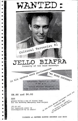 Jello Biafra Spoken Word 4-2-88