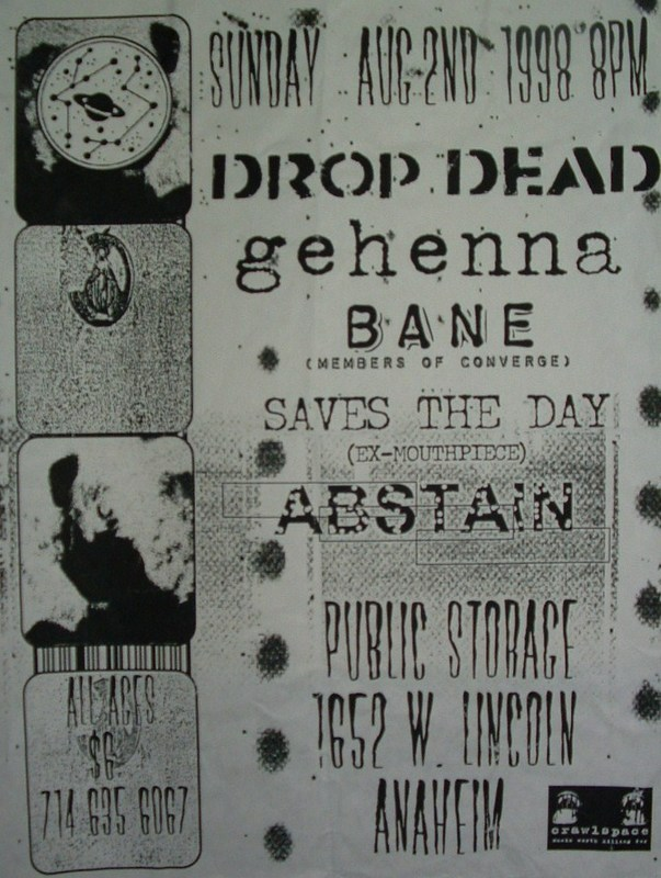 DropDead-Gehenna-Bane-Saves The Day-Abstain @ Anaheim CA 8-2-98
