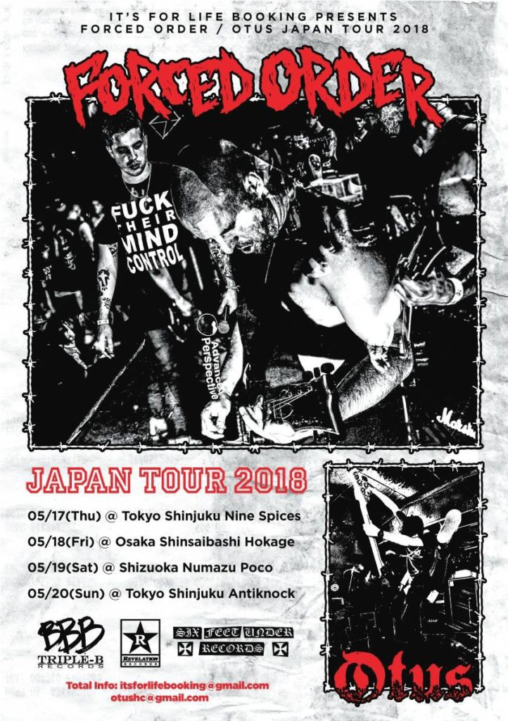 Forced Order Japan Tour 2018