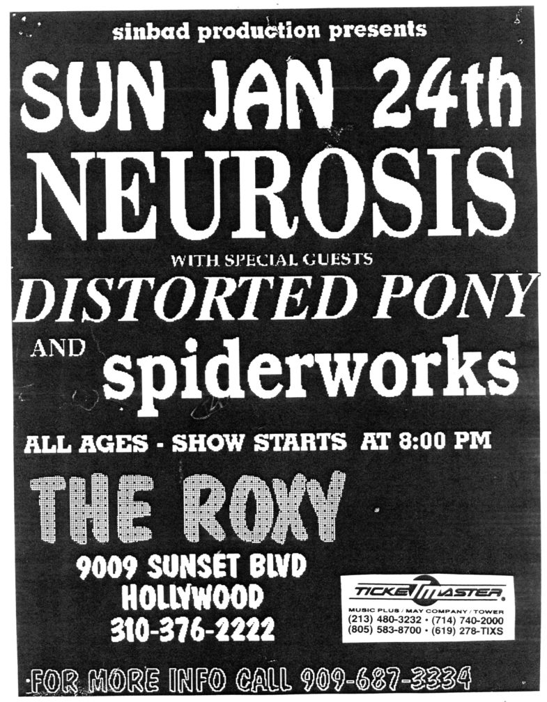 Neurosis-Distorted Pony-Spiderworks @ Hollywood CA 1-24-88