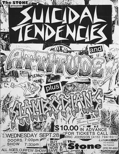 Suicidal Tendencies-Attitude-Slambodians @ San Francisco CA 9-28-88