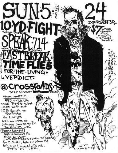 Ten Yard Fight-Speak 714-Fastbreak-Time Flies-For The Living-Verdict @ Fairfax VA 5-24-98