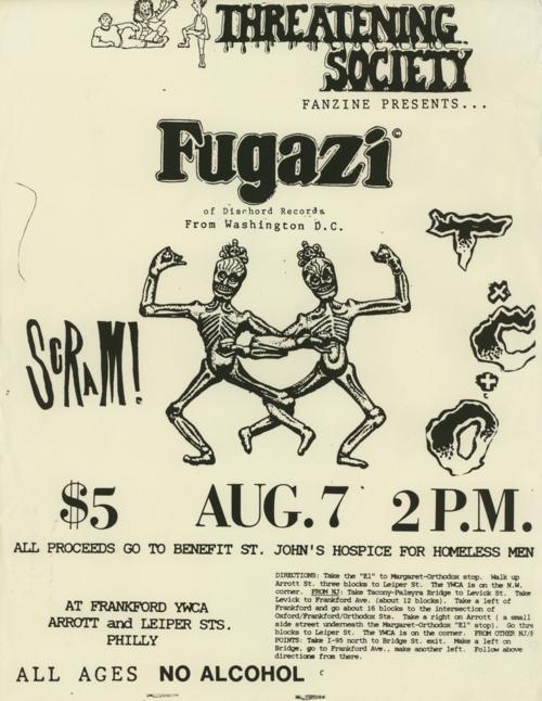 Fugazi-Scram @ Philadelphia PA 8-7-88