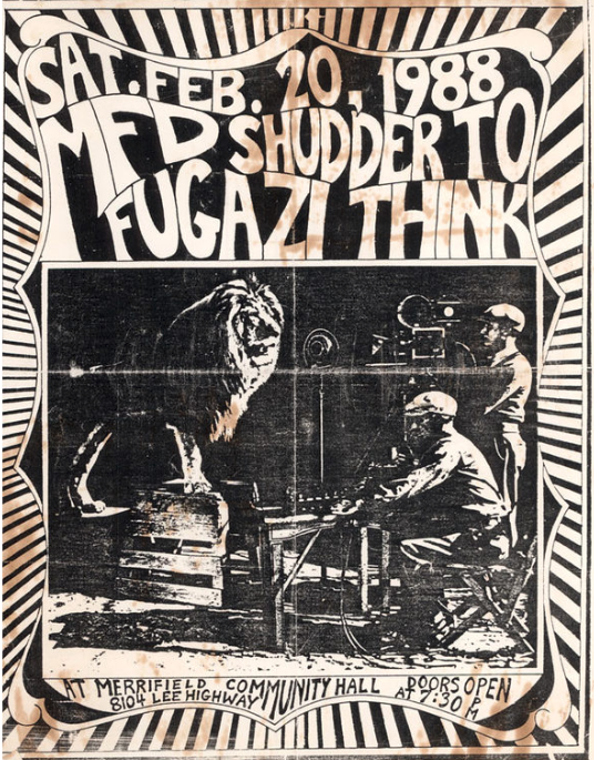 Fugazi-Shudder To Think @ Fairfax VA 2-20-88