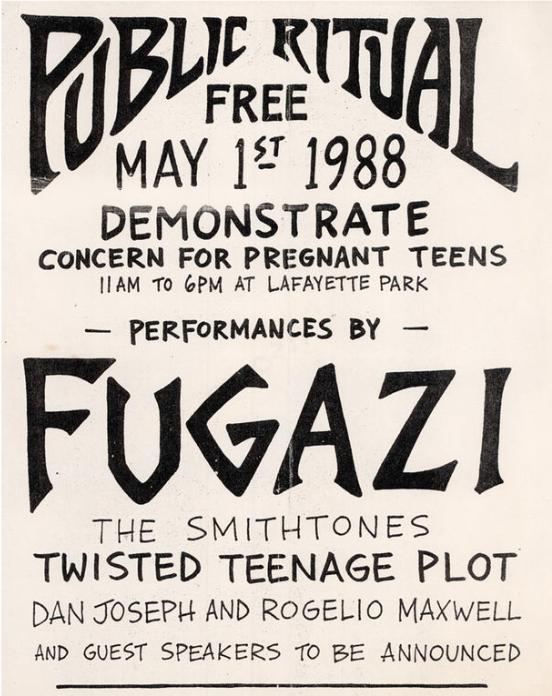 Fugazi-The Smithtones-Twisted Teenage Plot @ Washington DC 5-1-88