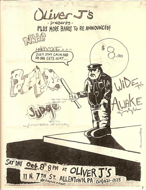 Bold-Judge-Wide Awake @ Allentown PA 10-8-88