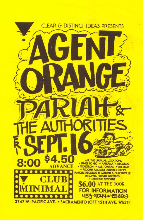 Agent Orange-Pariah-The Authorities @ Sacramento CA 9-16-88