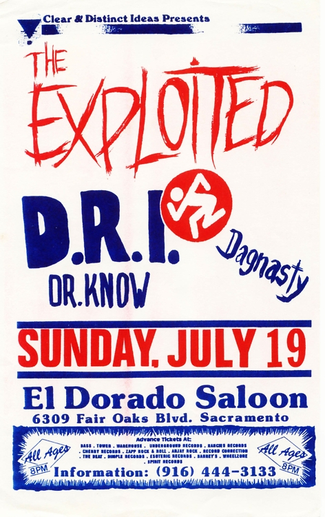 The Exploited-DRI-Dr. Know-Dag Nasty @ Sacramento CA 7-19-88