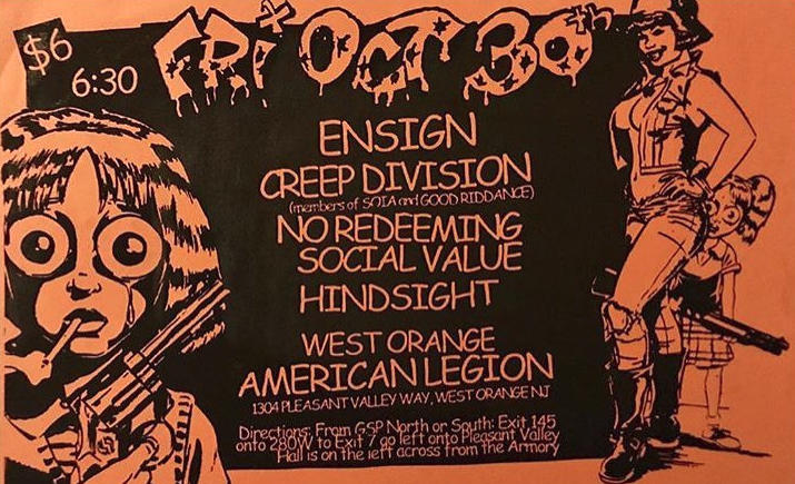 Ensign-Creep Division-No Redeeming Social Value-Hindsight @ West Orange NJ 10-30-98