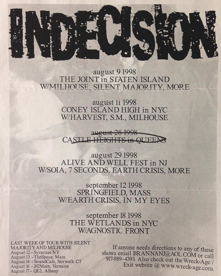 Indecision August 1998