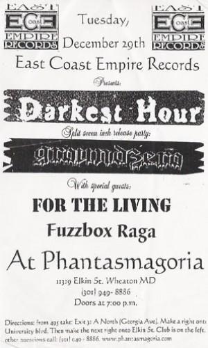 Darkest Hour-For The Living-Fuzzbox Raga @ Wheaton MD 12-29-98