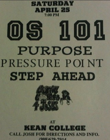 OS 101-Purpose-Pressure Point-Step Ahead-Cryptic Cookies For Jesus @ Union NJ 4-25-98
