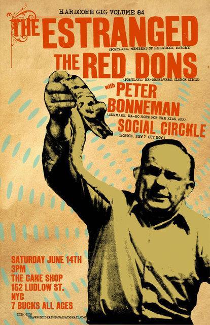 The Estranged-The Red Dons-Peter Bonneman-Social Circkle @ Brooklyn NY 6-14-08