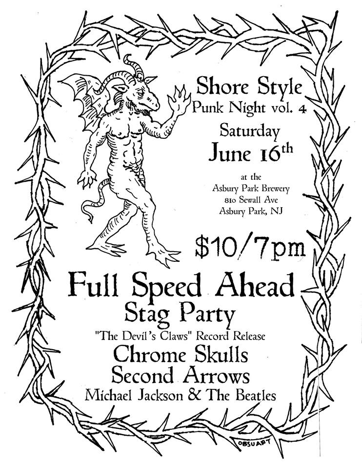 Full Speed Ahead-Stag Party-Chrome Skulls-Second Arrows @ Asbury Park NJ 6-16-18
