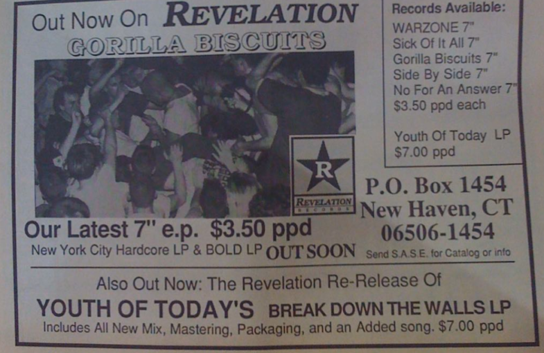 Out Now On Revelation Records: Gorilla Biscuits