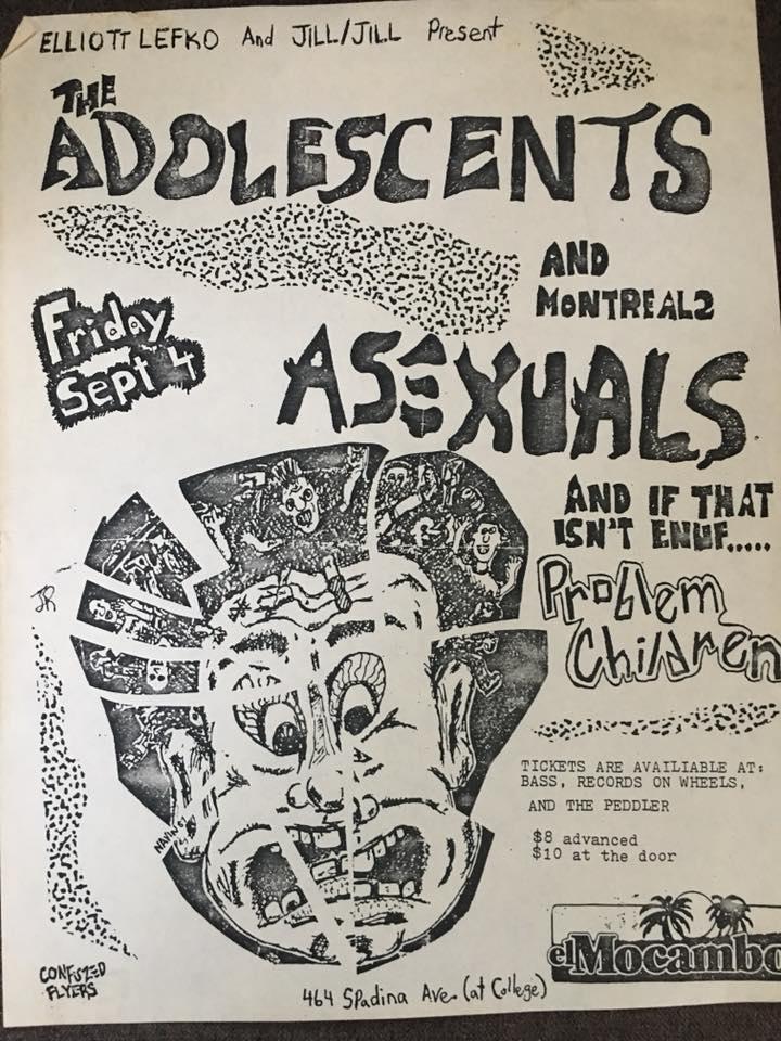 Adolescents-Asexuals-Problem Children @ Toronto Canada 9-4-87
