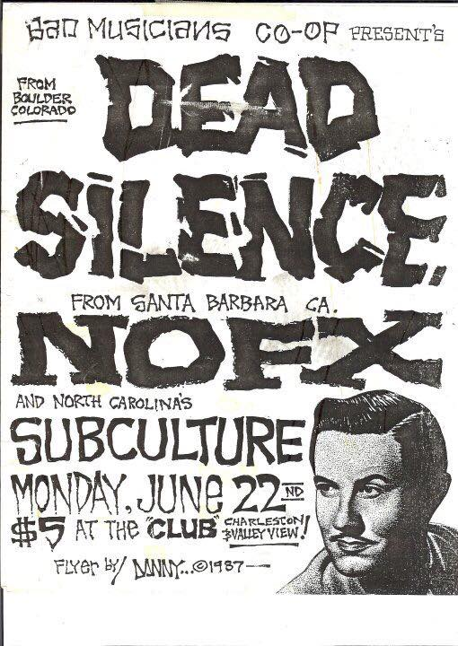 Dead Silence-NOFX-Subculture @ Valley View CA 6-22-87