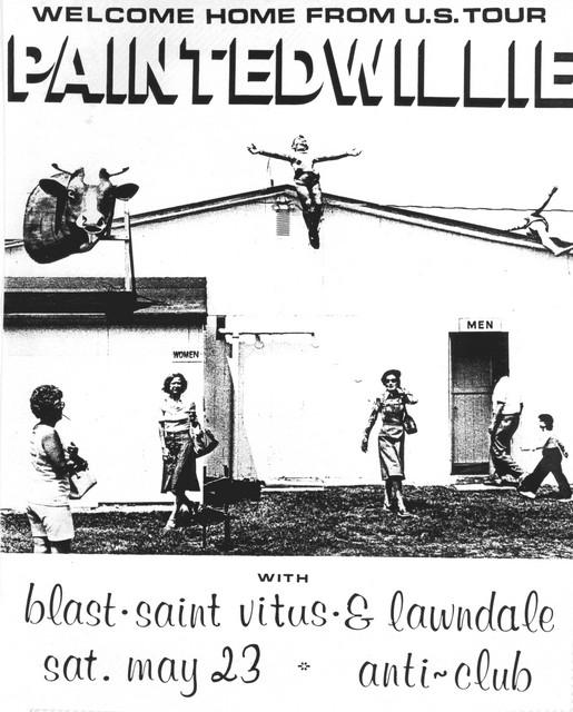 Painted Willie-Bl'ast!-Saint Vitus-Lawndale @ Hollywood CA 5-23-87