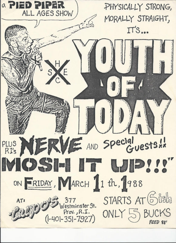 Youth Of Today-Nerve @ Providence RI 3-1-88