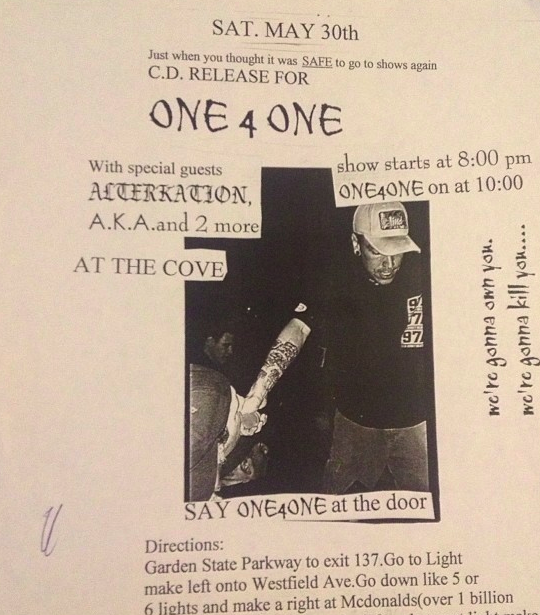 One 4 One-Alterkation @ Howell NJ 5-30-98
