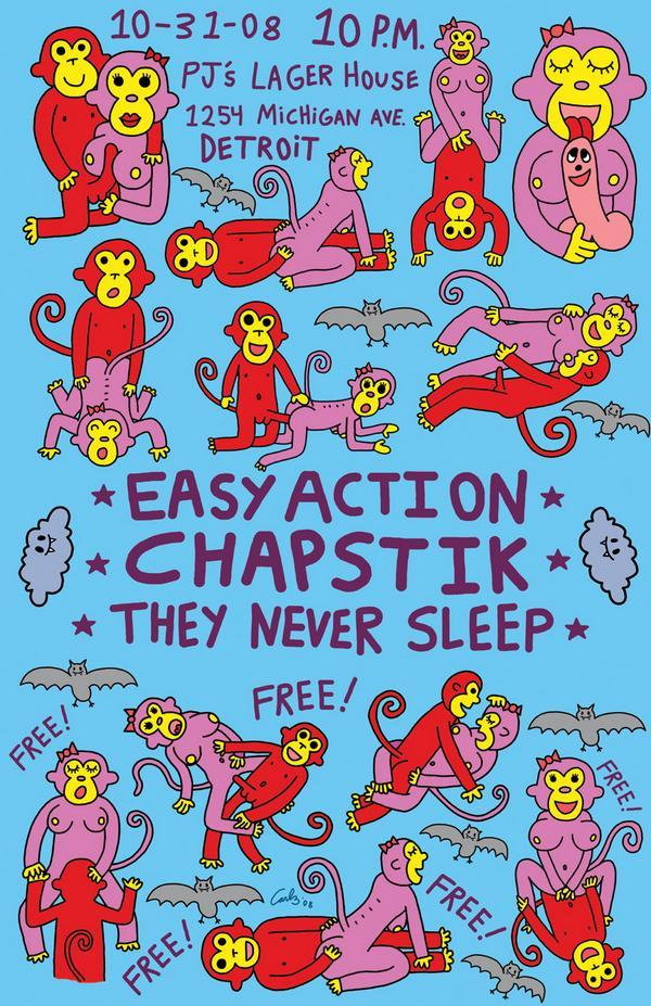 Easy Action-Chapstick-They Never Sleep @ Detroit MI 10-31-08