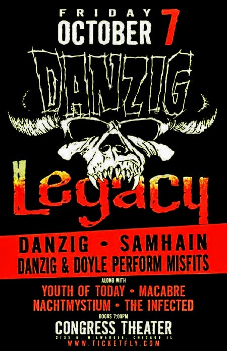 Danzig Legacy-Youth Of Today-Macabre-Nachtmystium-The Infected @ Chicago IL 10-7-18