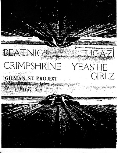 Fugazi-Beatnigs-Crimpshrine-Yeastie Girlz @ Berkeley CA 5-20-88
