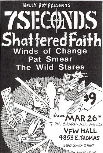 7 Seconds-Shattered Faith-Pat Smear-Wind Of Change-The Wild Stares @ VFW Hall Phoenix AZ 3-26-83