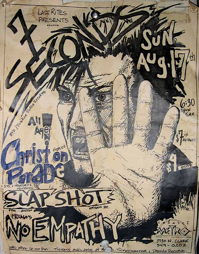 7 Seconds-Slapshot-Christ On Parade-No Empathy @ The Metro Chicago IL 8-17-86