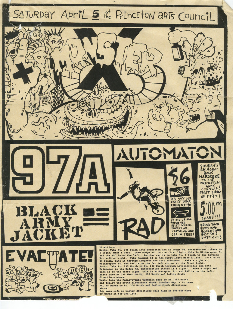 97a-Rad-Automaton-Monster X-Black Army Jacket-Evacuate @ Princeton Arts Council Princeton NJ 4-5-97